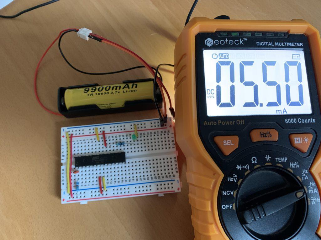 Consommation Arduino minimal 5 mA
