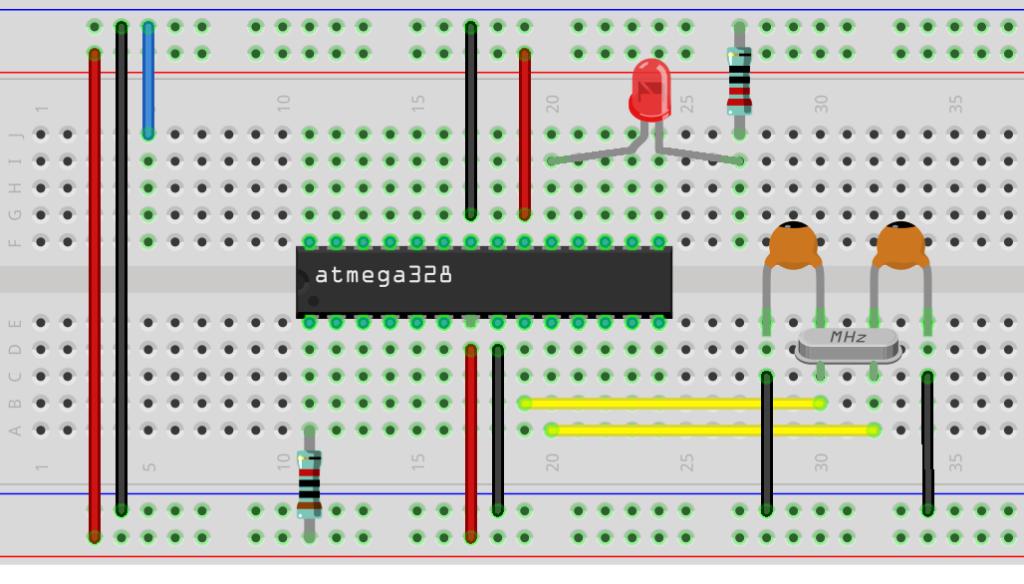 Arduino minimal avec bootloader