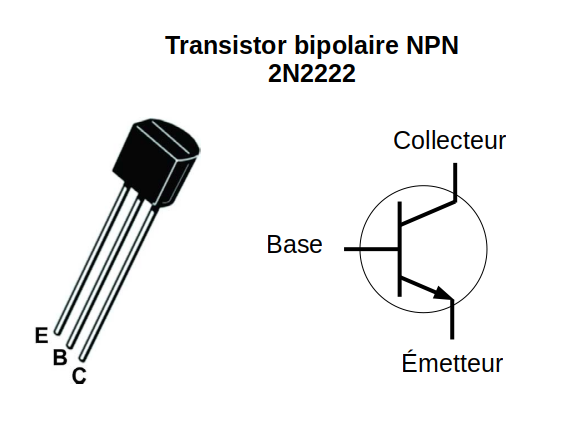 transistor bipolaire npn 2n2222