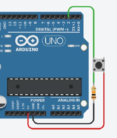 Résistance de rappel - Arduino