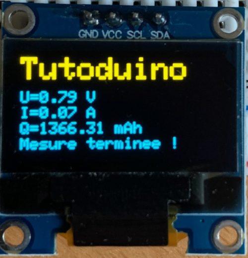 Test la capacité d'une pile avec un Arduino
