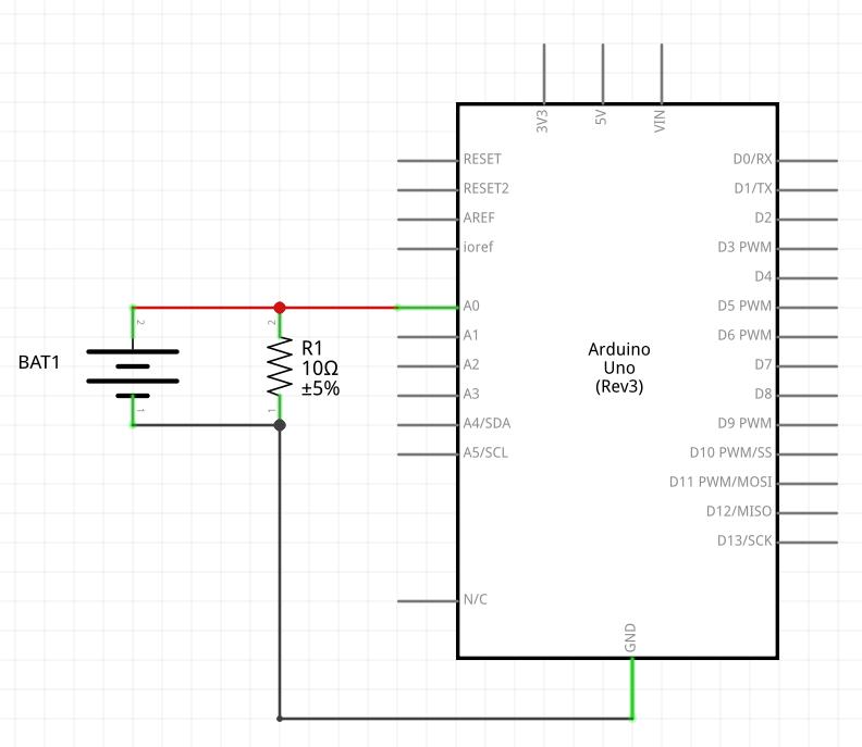 Schéma du montage de mesure de capacité de pile Ni-MH