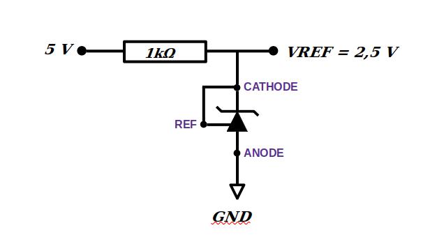 TL431 régulateur de tension 2,5V