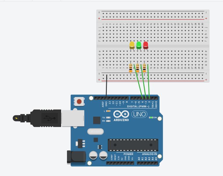 schéma pour faire clignoter 3 LED